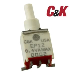 C&K EP12 Miniature SPDT SMD Mount Pushbutton Switch
