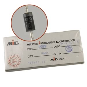 (Pkg 1,000) Master Instrument Corporation IN4937 600V 1Amp DO-41 Case Fast Recovery Rectifier