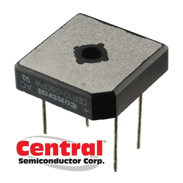 (Pkg 5) Central Semiconductor CBR10-080PW - 800V 10Amp Full Wave Bridge Rectifier