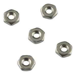 (Pkg 50) 2-56 Hex Nut 304 Stainless Steel 3/16