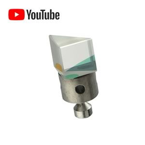 Precision Optical Glass Prism Mounted on Holder