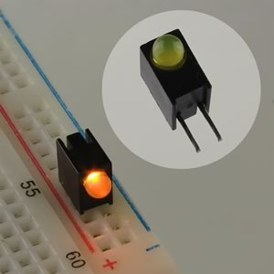(Pkg 100) Dialight 551-0307 LED CBI Yellow Circuit Board Indicator