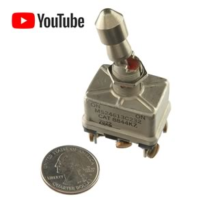 Military Heavy Duty Locking Panel Mount Toggle Switch CAT 8844K7 - MS 24613C232