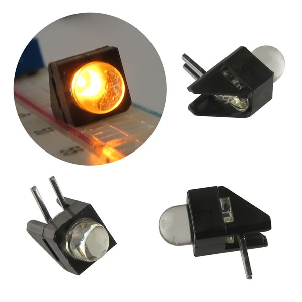 (Pkg 25) Super Bright 5mm Right Angle Yellow LED