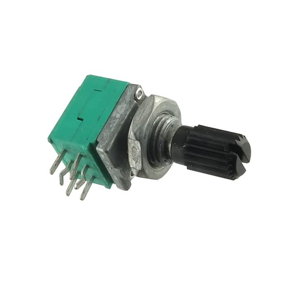 Small 5K Linear Taper Dual Panel Mounting Potentiometer