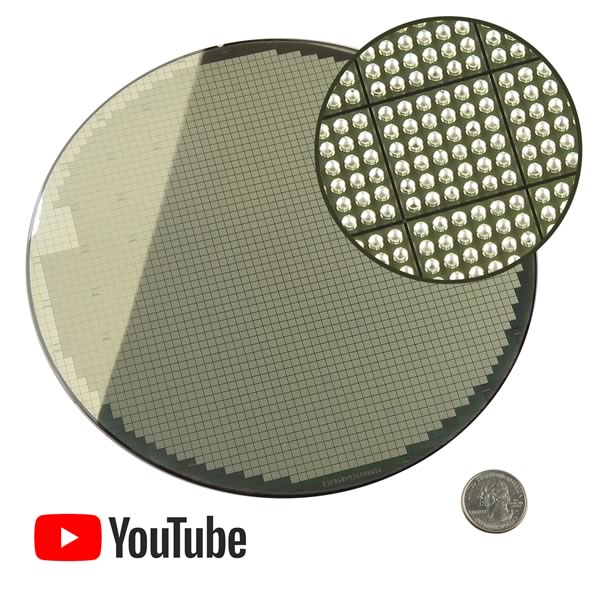 Very Unique Great Wall Semiconductor Solder Bumped 200mm Silicon Wafer