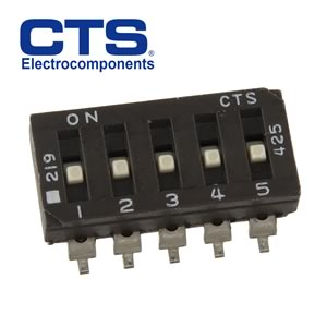 (Pkg 5) CTS 5 Position SMD Slide DIP Switch