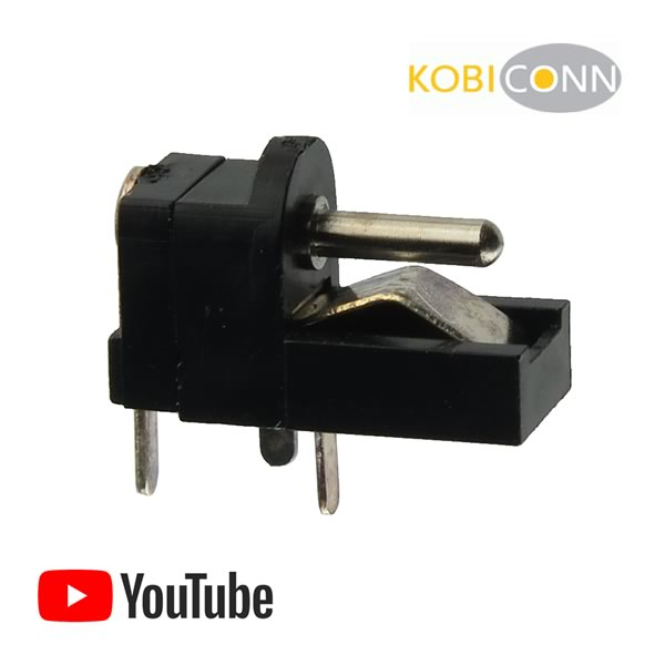 (Pkg 5) Kobicon 16PJ200 1.3mm DC Power Jack w/Switch