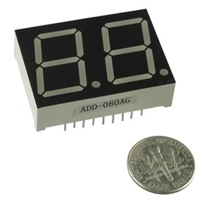 Super Bright Yellow/Green Dual Common Anode Display