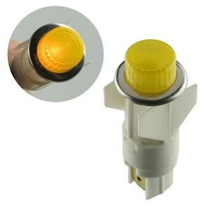 Amp APL 6V Snap In Bright Yellow Indicator Lamp