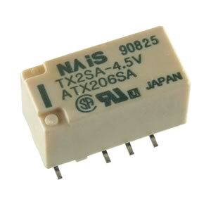 TX2SA-4.5V DPDT 4.5VDC Non Latching SMD Relay