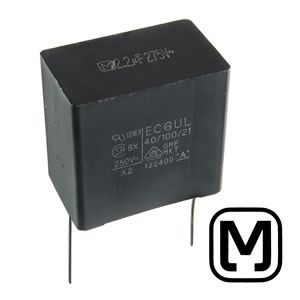 Panasonic 2.2uF 275VAC Metallized Polyester Film Capacitor ECQU2A225ML