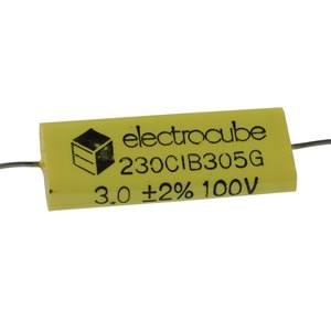Electrocube 3uF 100V Metallized Polyester Film Capacitor