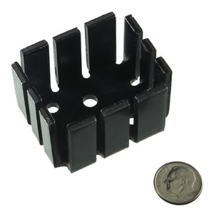 Large Heavy Duty Black Anodized Aluminum Heatsink for TO-3