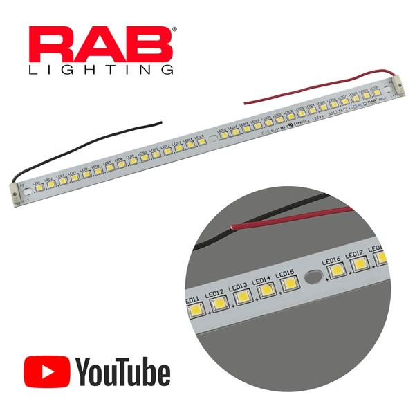 RAB Lighting 30 White LED 9-12VDC Blinding Light Bar