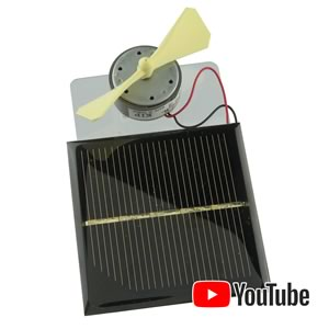 Miniature Solar Power Motor with Propeller and Solar Panel