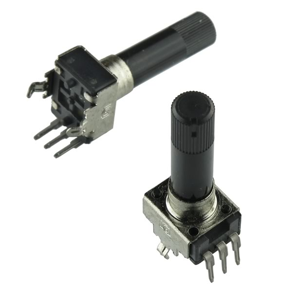 (Pkg 2) Linear Taper 500Ω Potentiometer with 0.25
