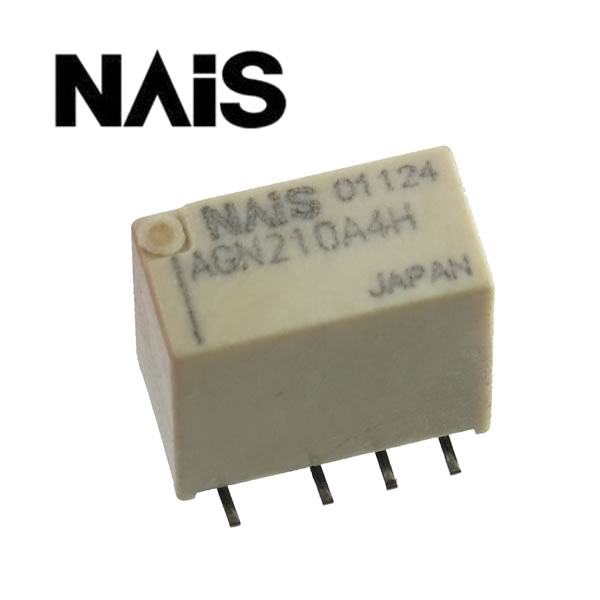 Panasonic / NaIS Low Signal 4.5VDC SMD DPDT Latching Relay AGN210A4H