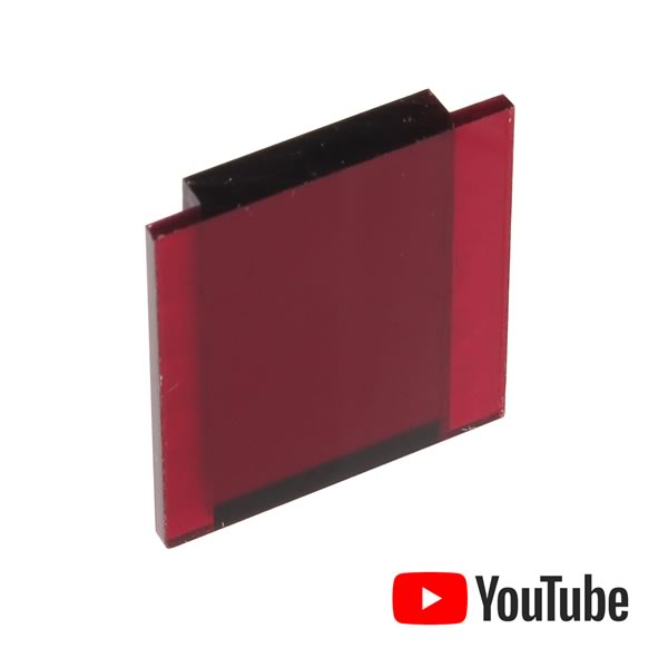 High Quality See Thru Red Lens for Panel