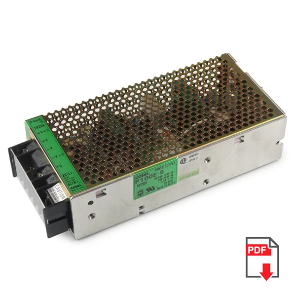 Cosel P100E-5 5VDC 20Amp Regulated Switching Power Supply