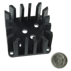 Our Best TO-3 Black Anodized Heatsink