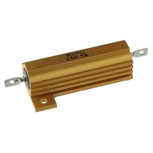 WH50 25R 50Watt 25 Ohm Wirewound 5% Aluminum Case Power Resistor