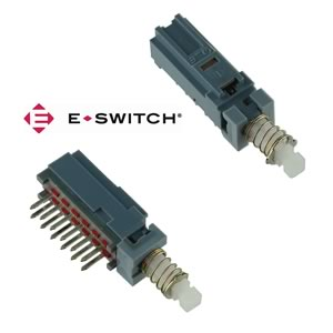 (Pkg 1) E-Switch MTH4UEENAGX 4 Pole RA PCB Mount Latching Switch