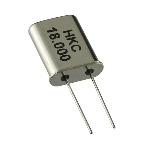 (Pkg 5) HKC HC-49 18.000MHz Miniature Metal Case Crystal