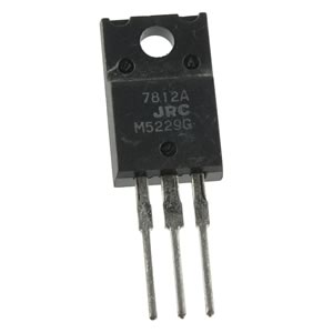(Pkg 2) JRC 7812A 12V 1Amp Voltage Regulator