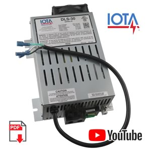 IOTA DLS-30 120VAC - 12VDC 30Amp Battery Charger / Power Converter