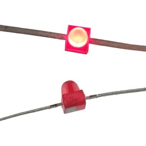 (Pkg 5) HLMP-6300 Tiny Red LED