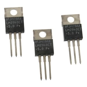 (Pkg 3) LM2940CT-5 +5VDC Voltage Regulator