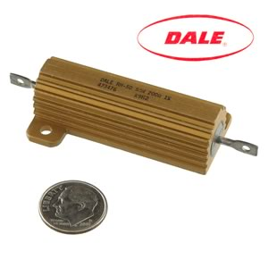 Dale RH-50 50Watt 200Ω 1% Wirewound Aluminum Case Power Resistor