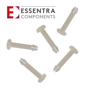 (Pkg 25) Essentra Components 27PIF0075 Nylon Push In Fastener (Snap Lock Pin)