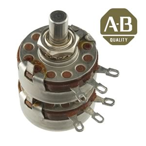A&B Type J Linear Taper 5K Dual Panel Mount Potentiometer