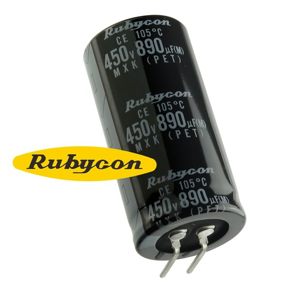 Rubycon 890uF 450V Radial Electrolytic Capacitor