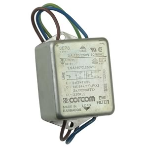 Corcom 3EP3 Single Phase 2 Stage EMI Power Line Filter Module Rated 3Amp 120/250VAC - 50/60Hz