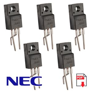 (Pkg 5) NEC 2SJ449 TO-220 P-Channel Power Mosfet