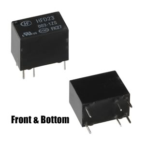 (Pkg 5) HFD23/003-IZS Subminiature 3VDC Relay SPDT 1Amp Contacts