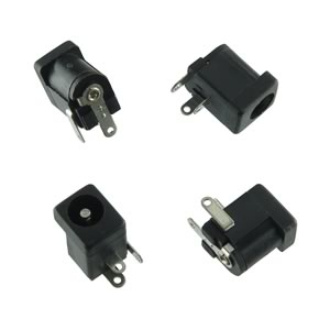 (Pkg 4) Kycon 5.5mm Power Jack with Center 2.5mm and NC-Switch KLD-0202-B