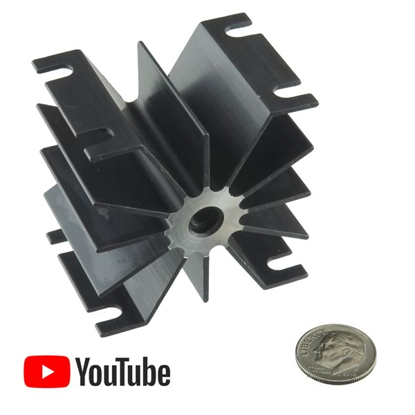 Wakefield 302-NN Large Black Anodize Heat Sink for Stud Rectifiers