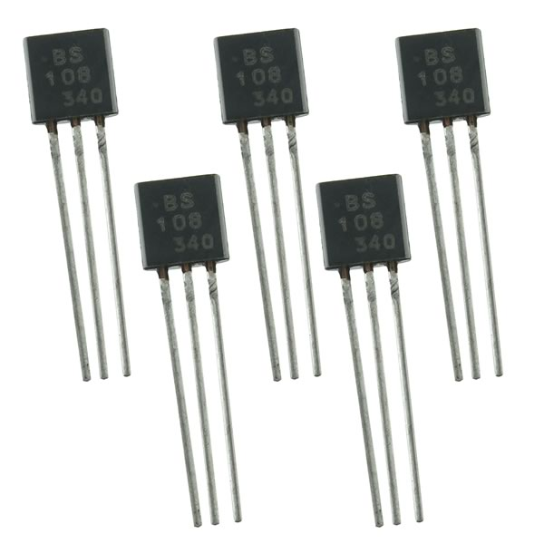 (Pkg 5) BS108 TO-92 200V 250mA Logic Level N-Channel Mosfet