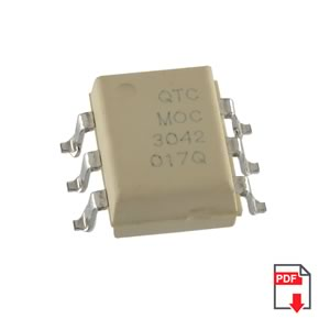(Pkg 8) MOC3042 Optically Coupled Bilateral Switchlight Activated Zero Voltage Crossing Triac