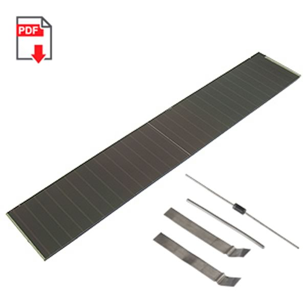 SALE - Special Dual Solar Panel (12 x 2-3/16)