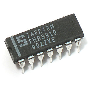 74F243 Quad Bus Transceiver