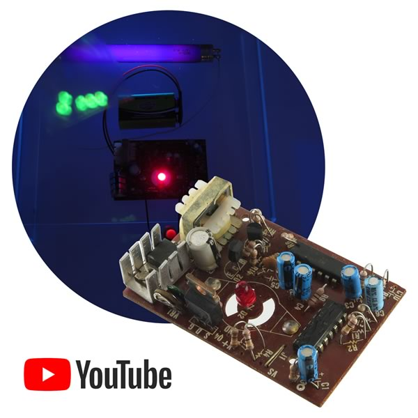 Blacklight Tube Driver Board 12VDC