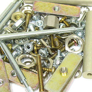 (Pkg of 100) Metal Hardware Assortment